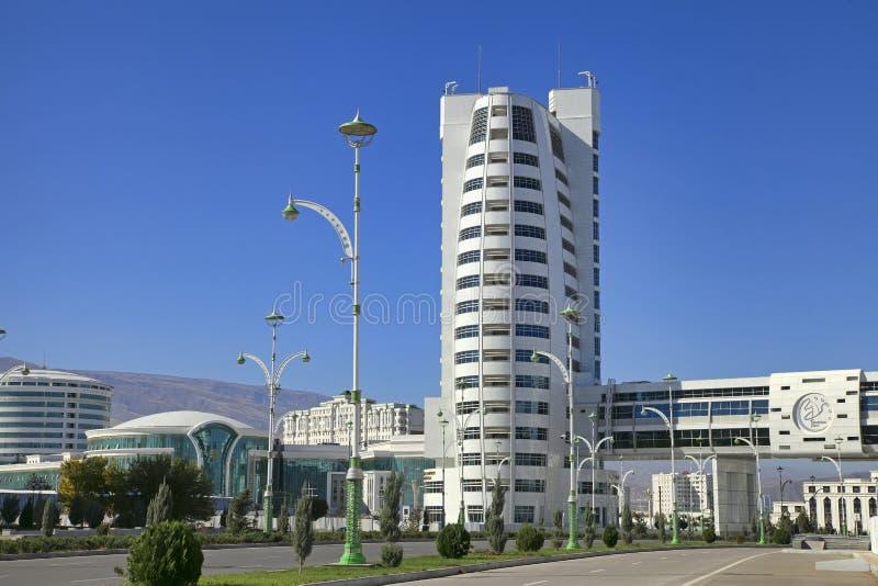 Aschgabat, Turkmenistan - 23. Oktober 2014: Teil des Komplexes - olympisches Dorf (Aschgabat, 2017) stockbilder