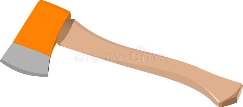 Ascia arancio isolata su fondo bianco illustrazione vettoriale