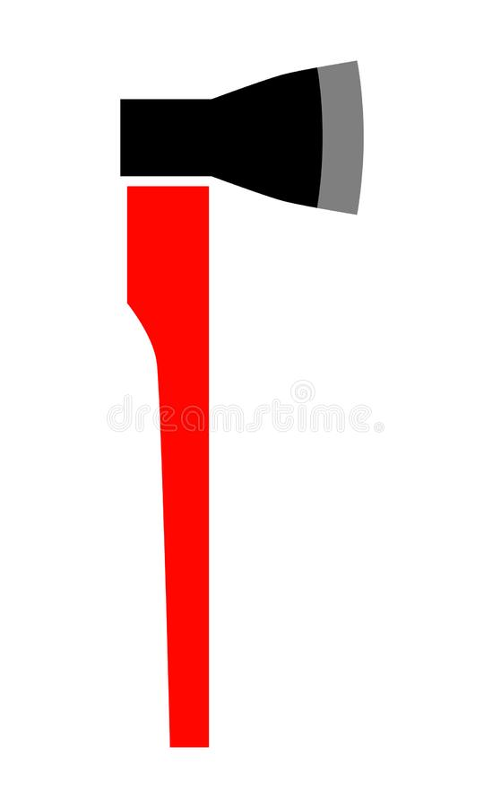 ascia Icona piana, oggetto isolato su fondo bianco Strumento per costruzione illustrazione vettoriale