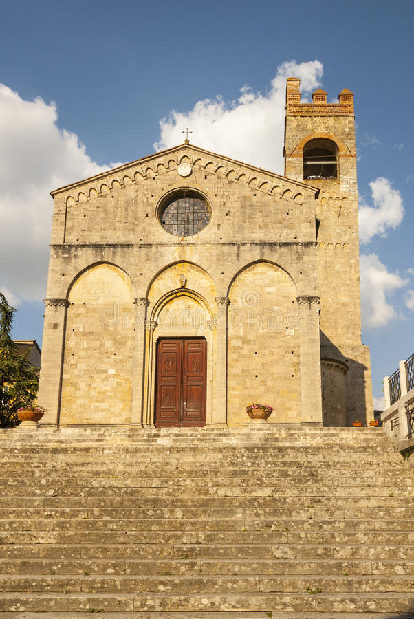 Asciano (Siena) - Ancient Church Royalty Free Stock Photo