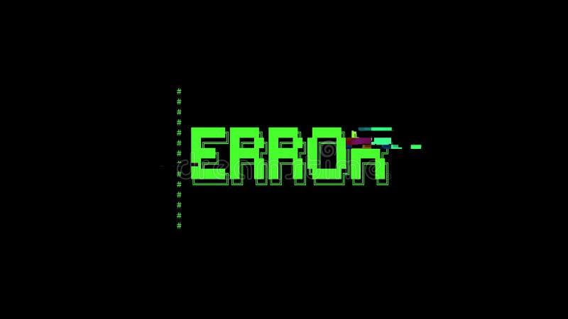 ASCII艺术消息错误小故障 库存例证