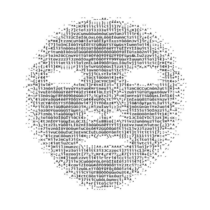 ASCII-Fronte illustrazione di stock