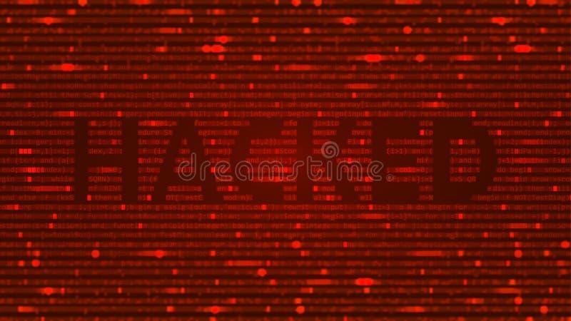 ASCII-konstbakgrund med det hackade ordet royaltyfri fotografi
