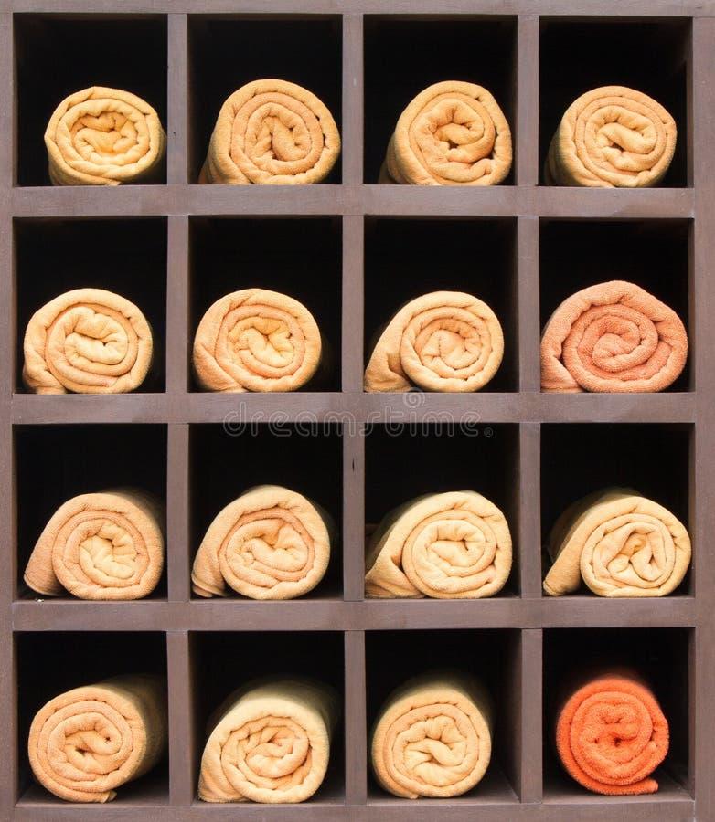 Asciugamani della stazione termale immagini stock libere da diritti
