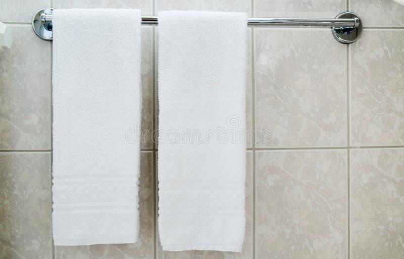 Asciugamani della stazione termale immagine stock