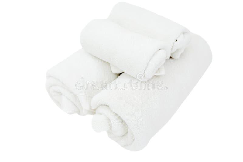Asciugamani della stazione termale fotografia stock libera da diritti