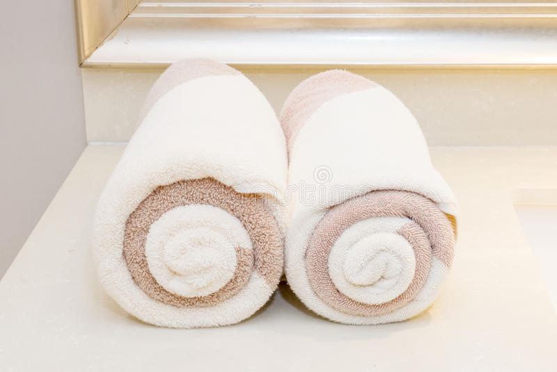 Asciugamani della stazione termale fotografie stock