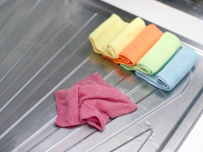 Asciugamani di cucina di Cottom immagini stock libere da diritti