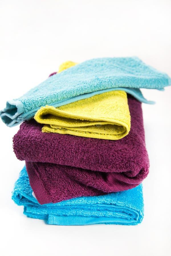 Asciugamani in studio fotografia stock libera da diritti