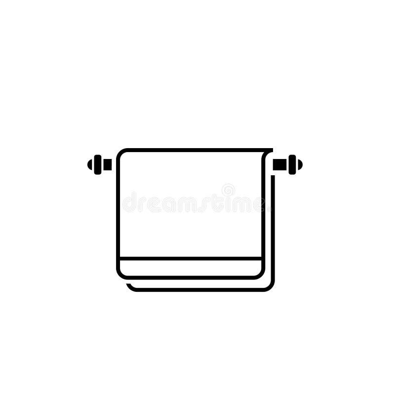 Asciugamano che passa sul glifo dello scaffale illustrazione vettoriale
