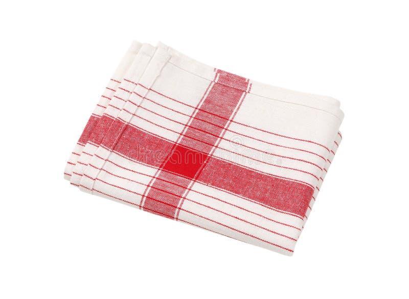 Asciugamano di piatto a strisce fotografia stock