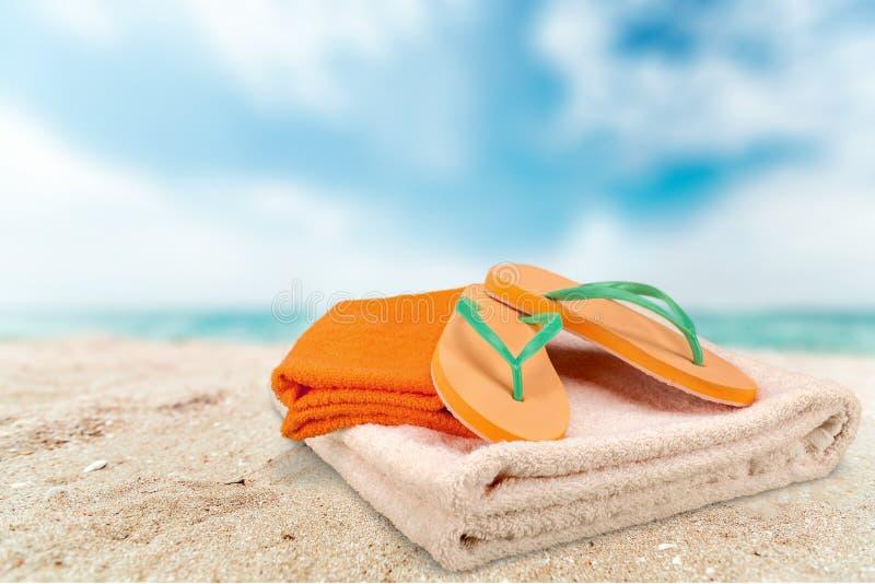 Asciugamano di spiaggia fotografia stock libera da diritti