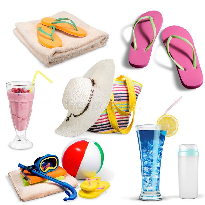 Asciugamano di spiaggia fotografia stock