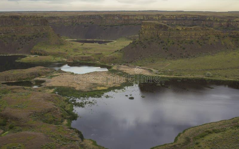 Asciughi il parco di stato di cadute, Washington fotografia stock