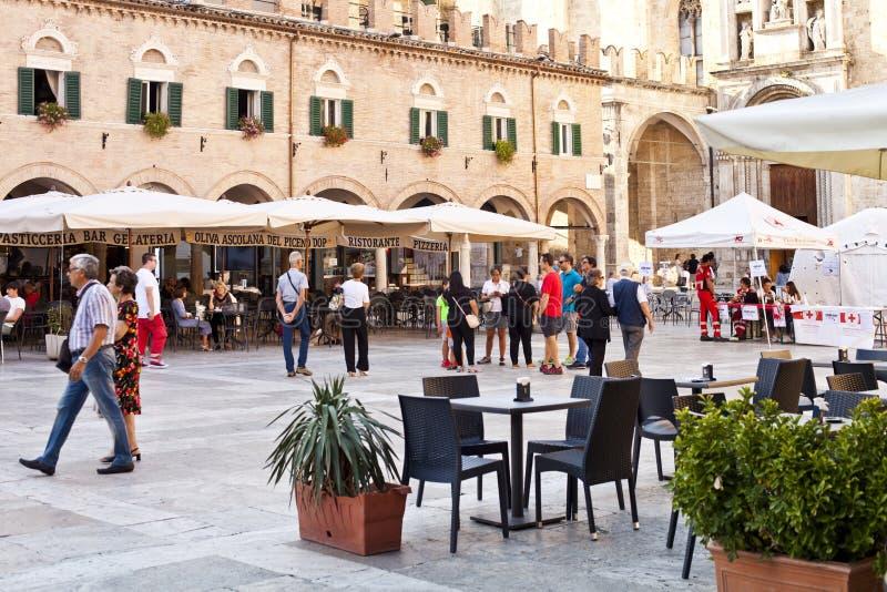 Ascoli Piceno, Italy - September 9, 2019: People enjoying happy day stock images