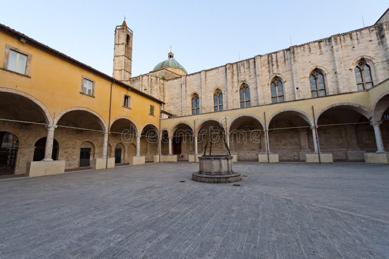 Download Ascoli Piceno (Marches, Italy) - Cloister Stock Photo - Image: 21164940