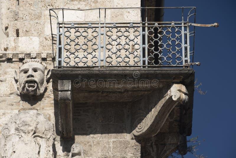 Ascoli Piceno Marches, Italy, Piazza del Popolo at morning. Ascoli Piceno Marches, Italy: the famous Piazza del Popolo, the medieval main square of the city at stock image