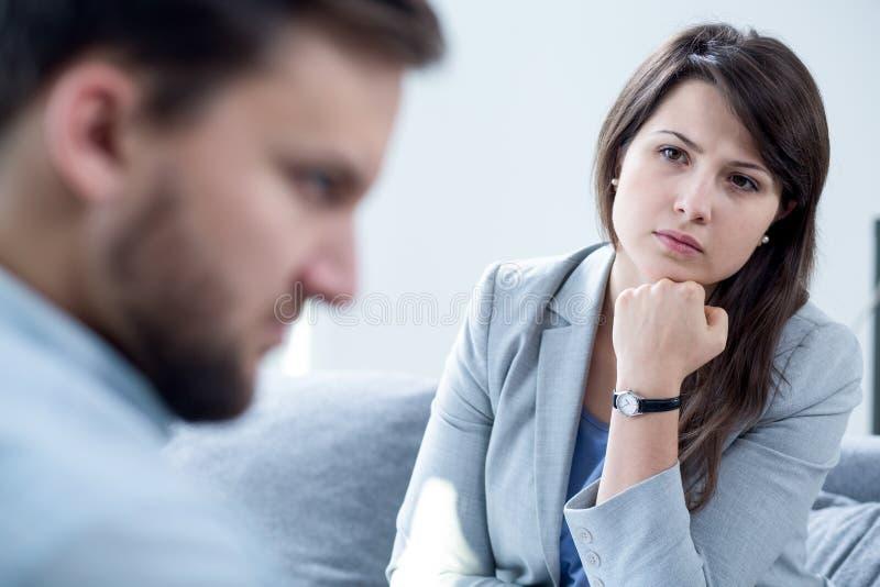 Ascoltando il paziente immagini stock libere da diritti