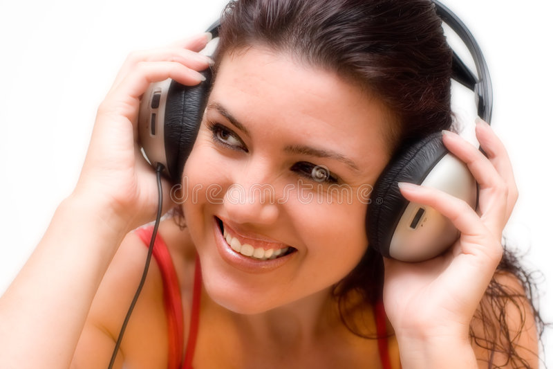Ascoltando la musica immagini stock libere da diritti