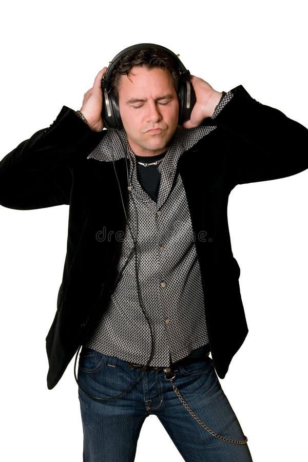 Ascoltando la musica fotografia stock libera da diritti