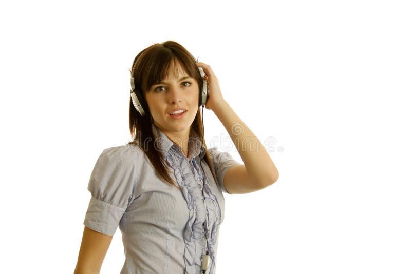 Ascoltando la musica immagini stock