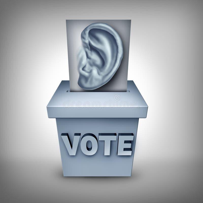 Ascolti gli elettori illustrazione di stock