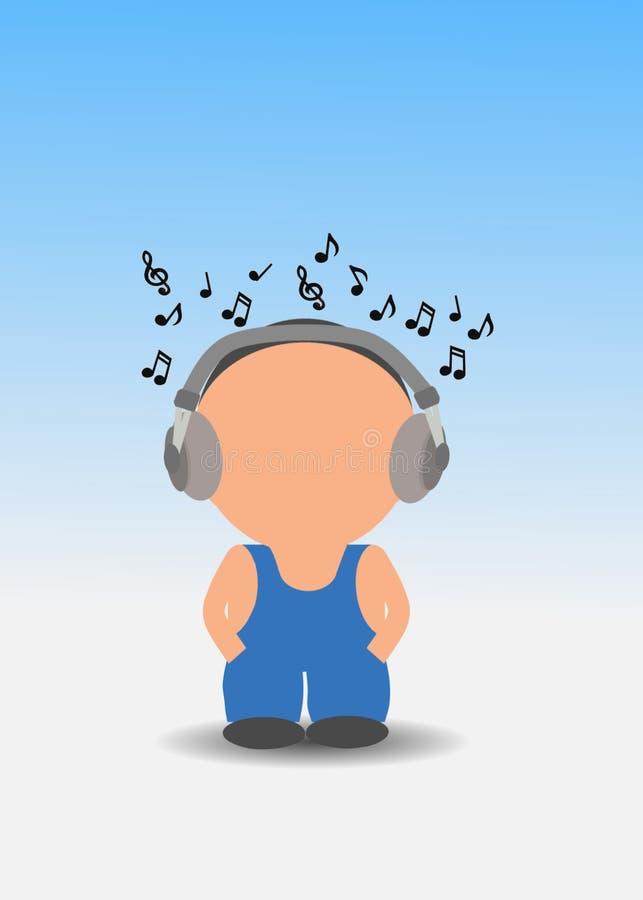 Ascolti musica illustrazione di stock