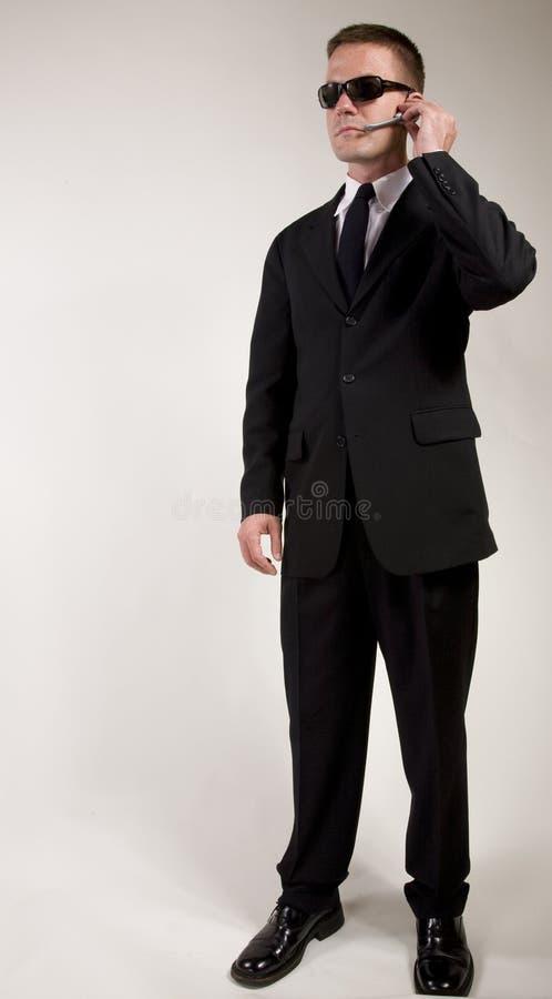 Ascolto dell'agente segreto fotografia stock