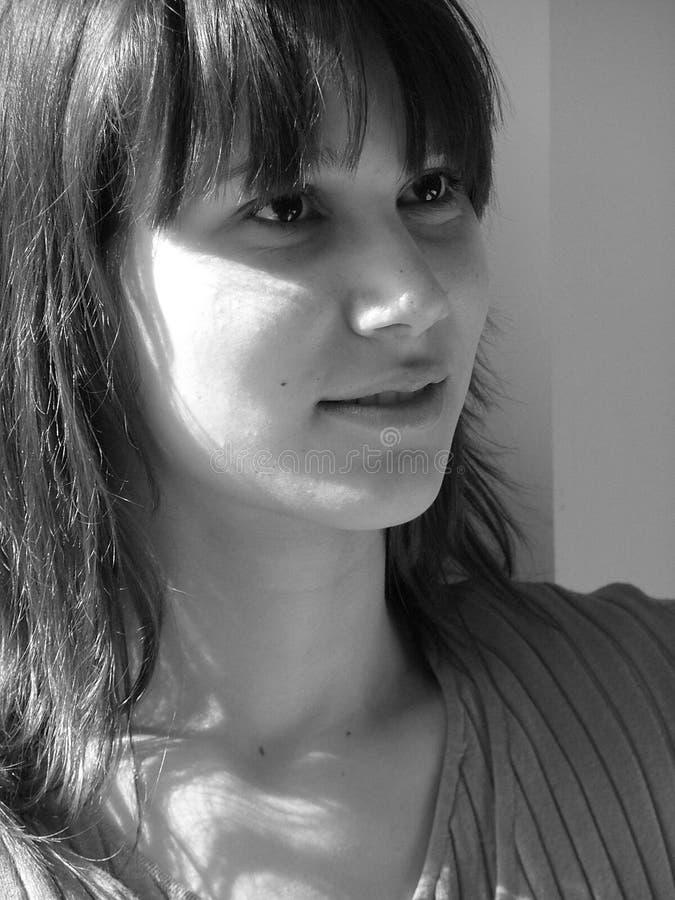 Ascolto della donna fotografie stock libere da diritti