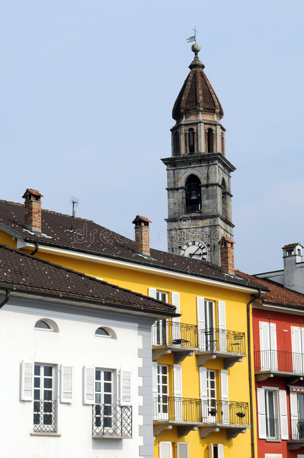 Ascona. Is a little village at the nothern shore of the Lago Maggiore royalty free stock photography