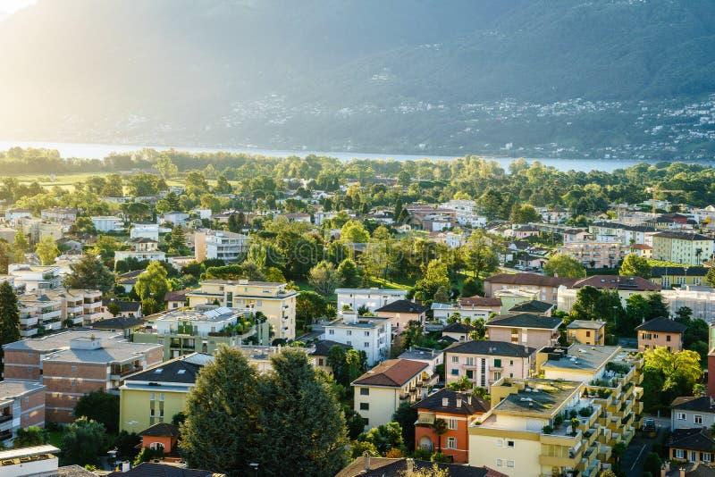 Ascona Aerial, Switzerland royalty free stock photo