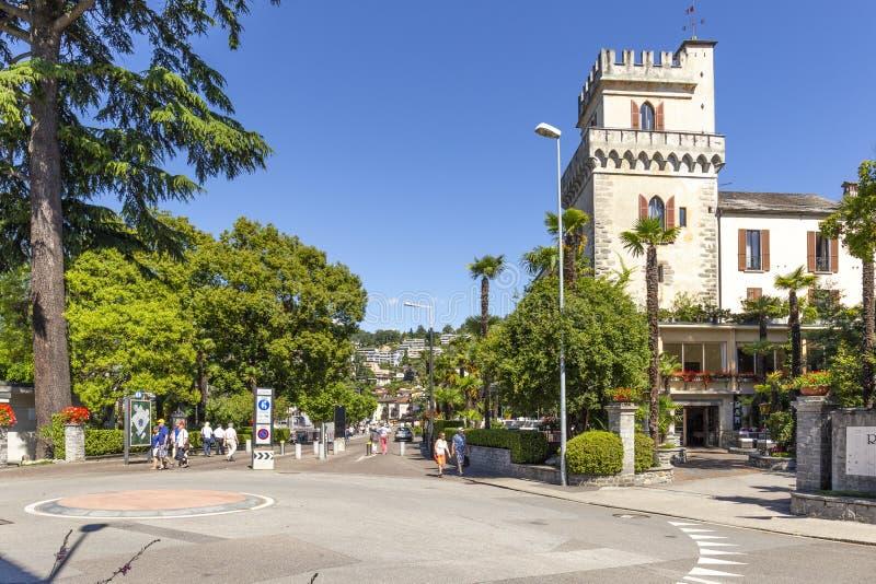 Ascona, canton Tessin, Suisse, le 9 juin 2018 Centre de la ville d'Ascona, canton Tessin, Suisse photo stock