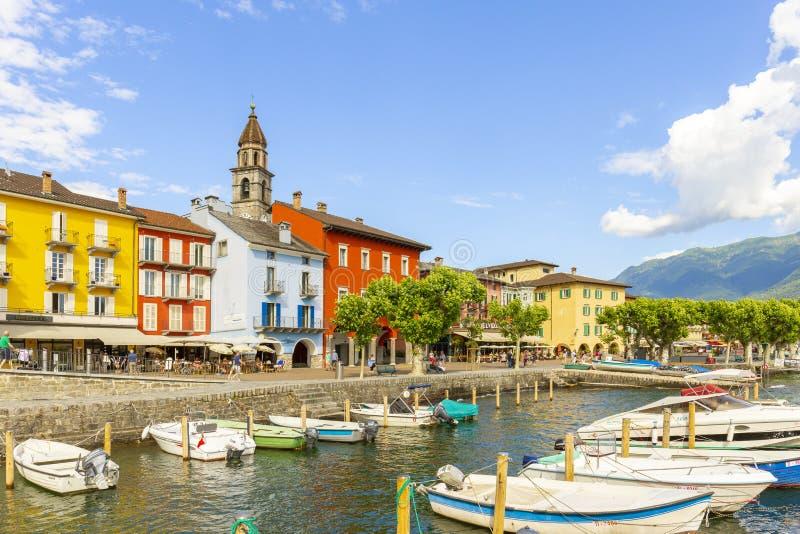 Ascona, canton Tessin, Suisse, le 9 juin 2018 Centre de la ville d'Ascona, canton Tessin, Suisse images stock