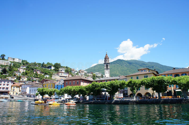 Download Ascona At Lake Maggiore, Switzerland Stock Image - Image of mountains, canton: 29203087