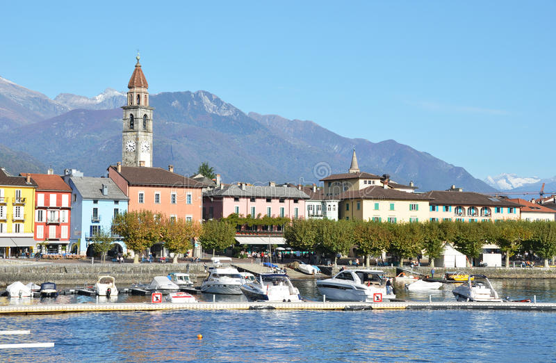 Ascona, Switzerland. Famous Swiss resort Ascona, Switzerland royalty free stock images
