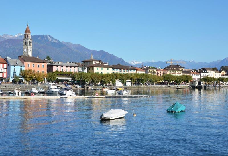 Ascona, Switzerland. Famous Swiss skiing resort stock photos