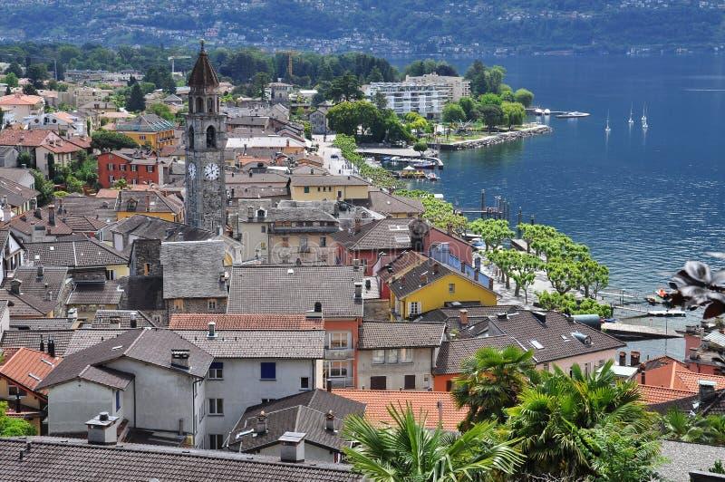 Ascona Ticino, Schweiz allmän sikt royaltyfria bilder