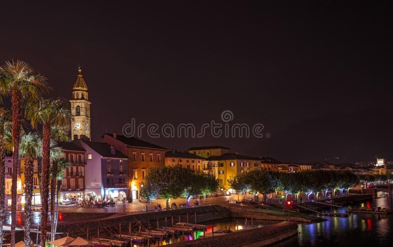 Ascona Waterfront Panorama royalty free stock image