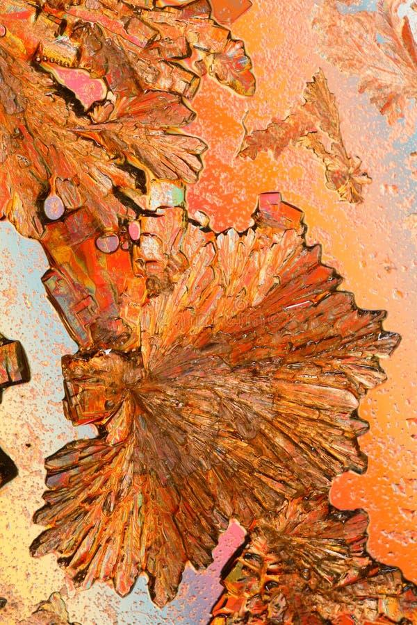 Ascorbinezuurkristallen royalty-vrije stock fotografie