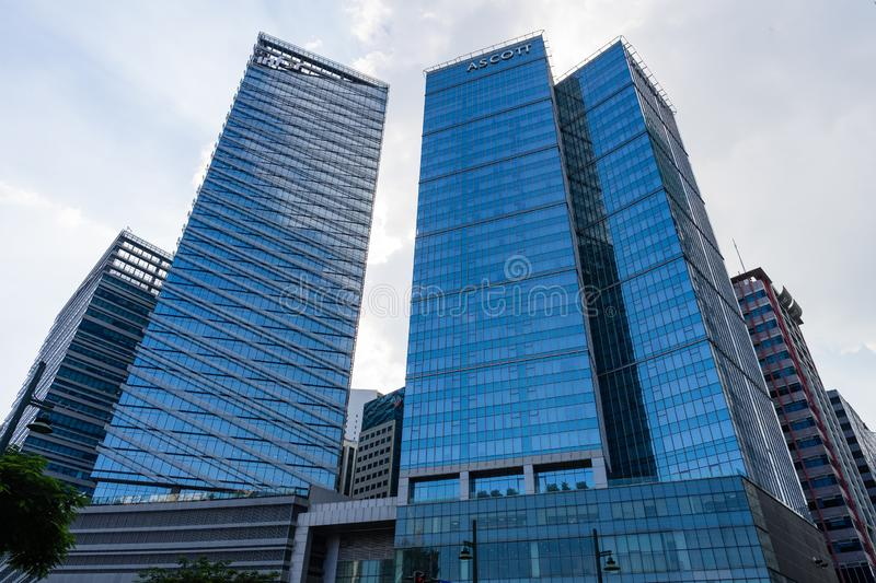 Ascott apartment hotel building in Bonifacio Global City of Philippines royalty free stock images