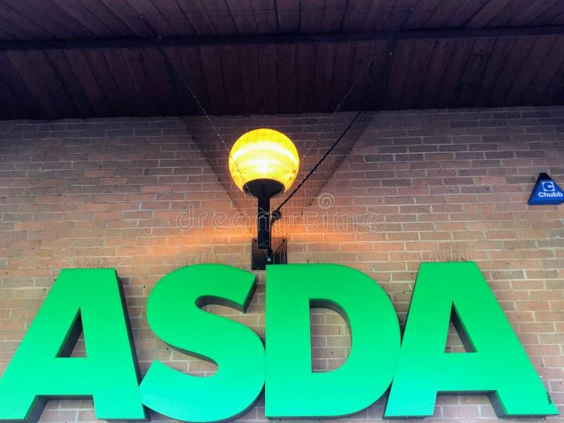 Asda supermarket royaltyfria foton