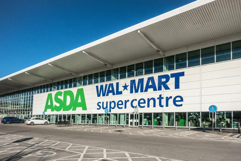 Asda Wallmart Supercentre στοκ εικόνες