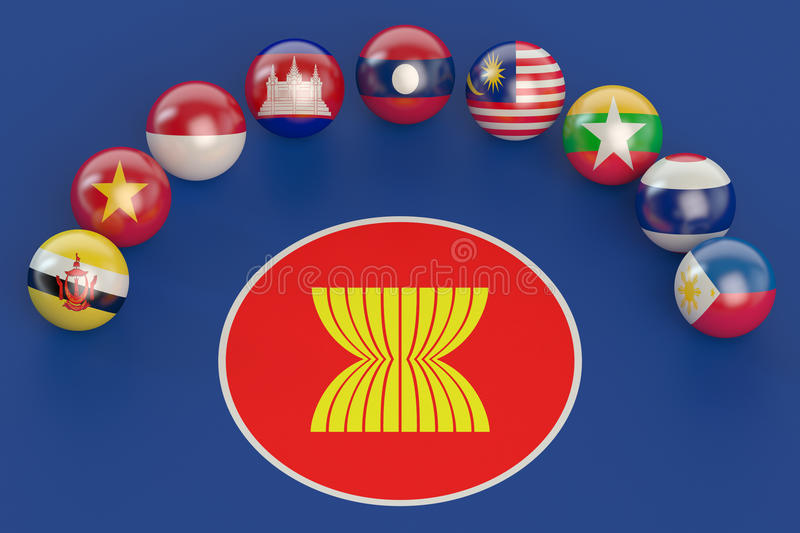 ASEAN concept. Association of Southeast Asian Nations concept