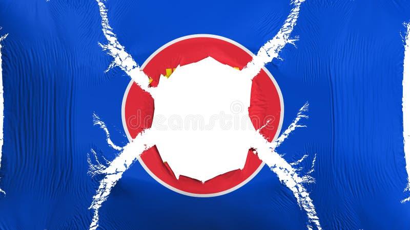 ASEAN-flagga med ett hål stock illustrationer