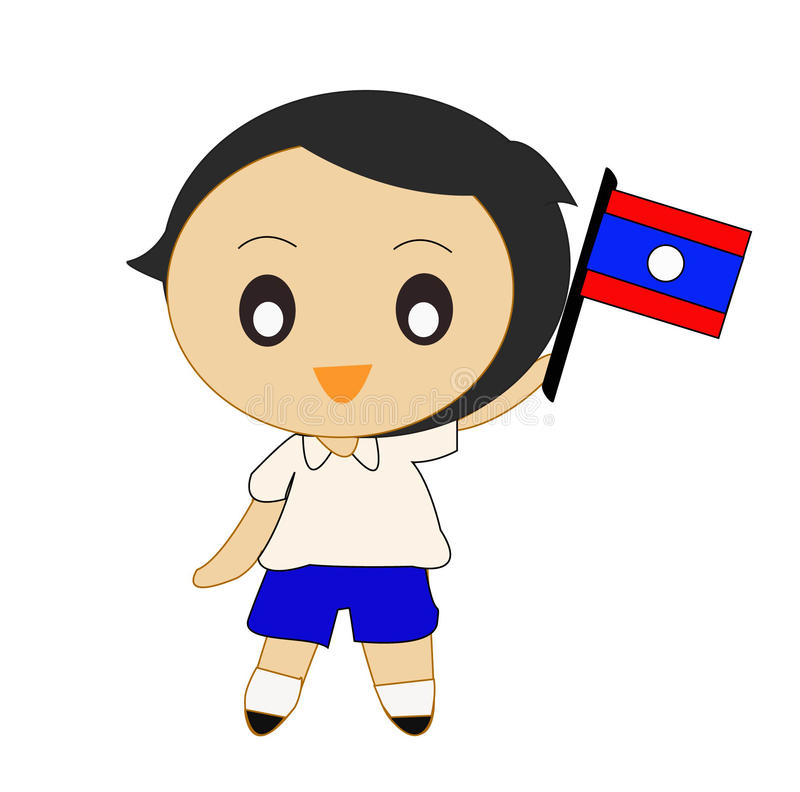 ASEAN Laos de bande dessinée image libre de droits