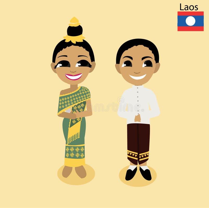 ASEAN Laos del fumetto illustrazione vettoriale