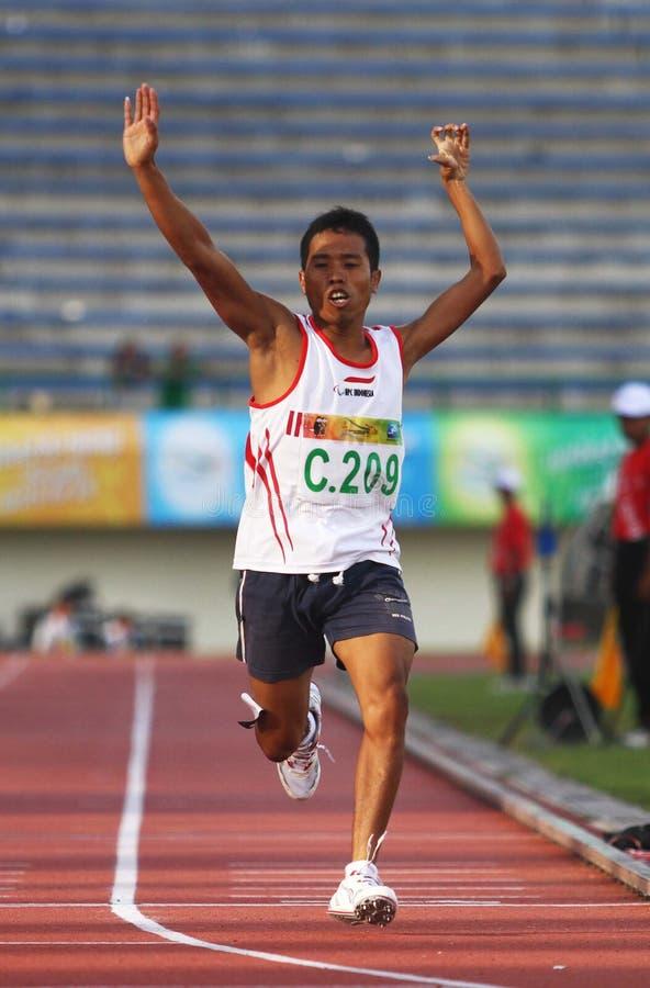 Asean-paragames: athletisch stockfoto