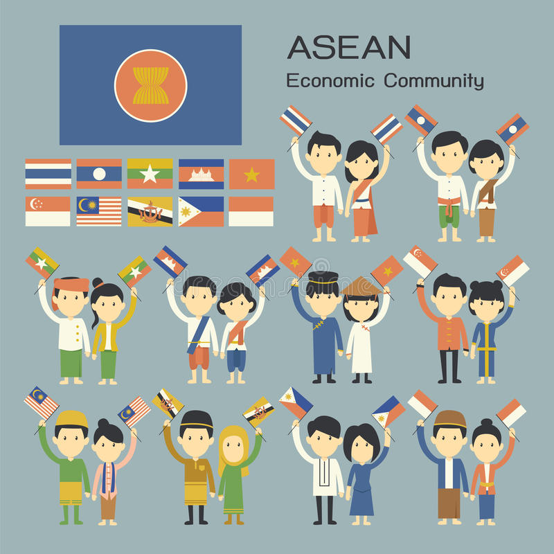 Asean people royalty free stock photos
