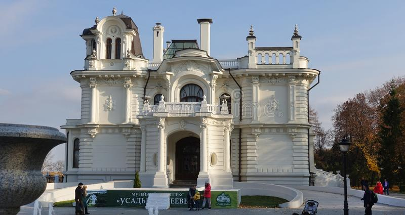 Aseev domu xix wiek strony fasady widok obraz stock