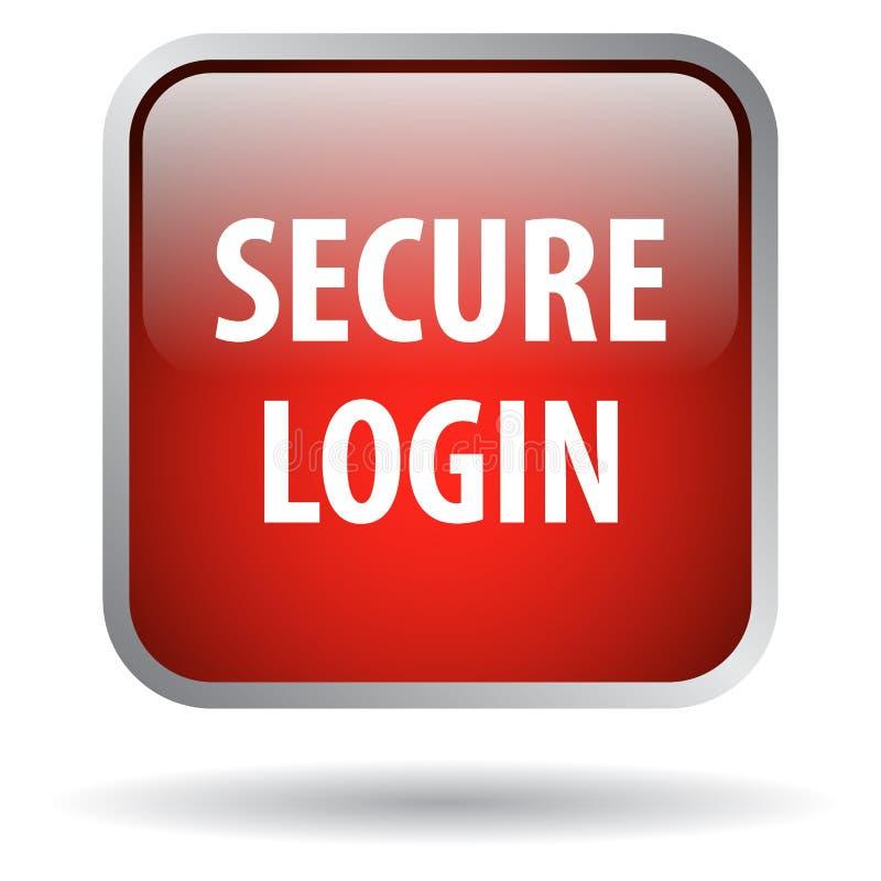 Asegure el botón del web del inicio de sesión ilustración del vector